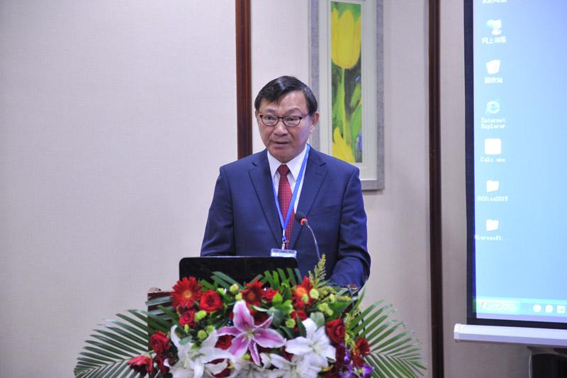 台湾两岸渔业合作发展基金会董事长、中华林学会顾问沙志一致辞